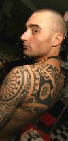 man shoulder tattoos