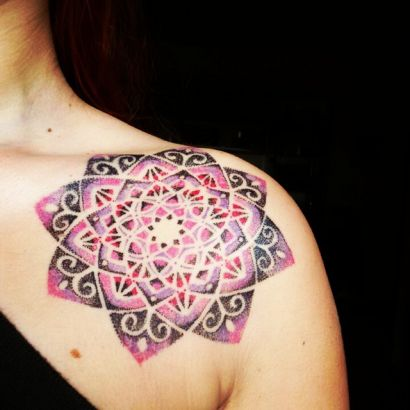 Dotwork Color Tattoo
