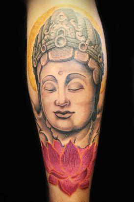 Buddha and lotus tattoo tattoo from itattooz buddha and lotus tattoo mightylinksfo