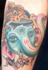 ganesh face tattoo image