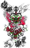 love angel tattoo image design