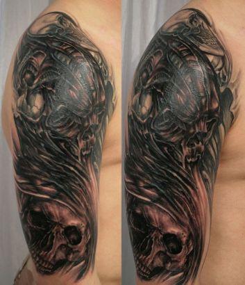 Skull Tat For Man Tattoo From Itattooz