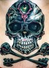 skull and cross bone tat free