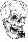 skull tats design