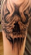 skull tattoo arm pic