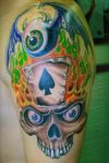 skull and eyeball tat