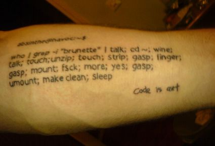 Text Tattoo On Hand