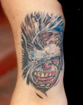 Demon Face Tattoo Image
