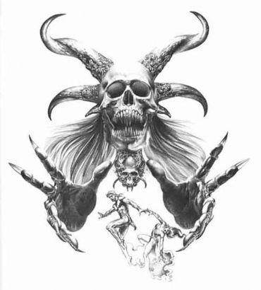 Large Demon Tattoo Tattoo from