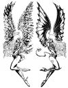 demon and angel girls tattoo