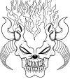 demon skull tattoo