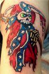 cartoon reaper tattoo