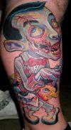 Zombie Tattoo Art on Leg