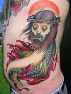 Zombie Tattoo On Rib