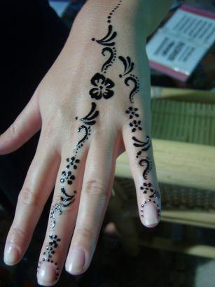 Henna Tattoo Image On Finger Tattoo From Itattooz