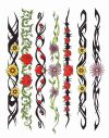 tribal and flower arm bands images tattoo