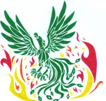 Tribal Color Phoenix Tats Tattoo From Itattooz