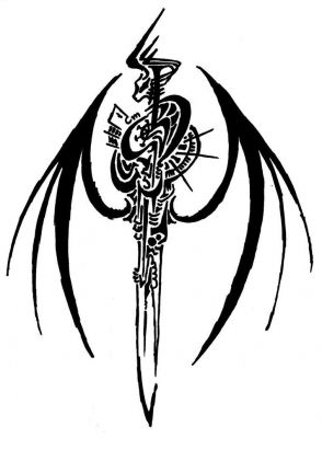 tribal sword symbol tattoo tattoo from itattooz rh itattooz net Sword of the Spirit Tattoo Sword and Shield Tattoo