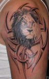 leo tribal tattoo on arm