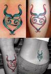 taurus symbol tattoos design