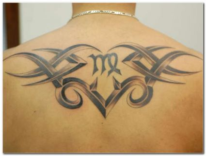 Virgo Symbol With Tribal Tats Tattoo From Itattooz